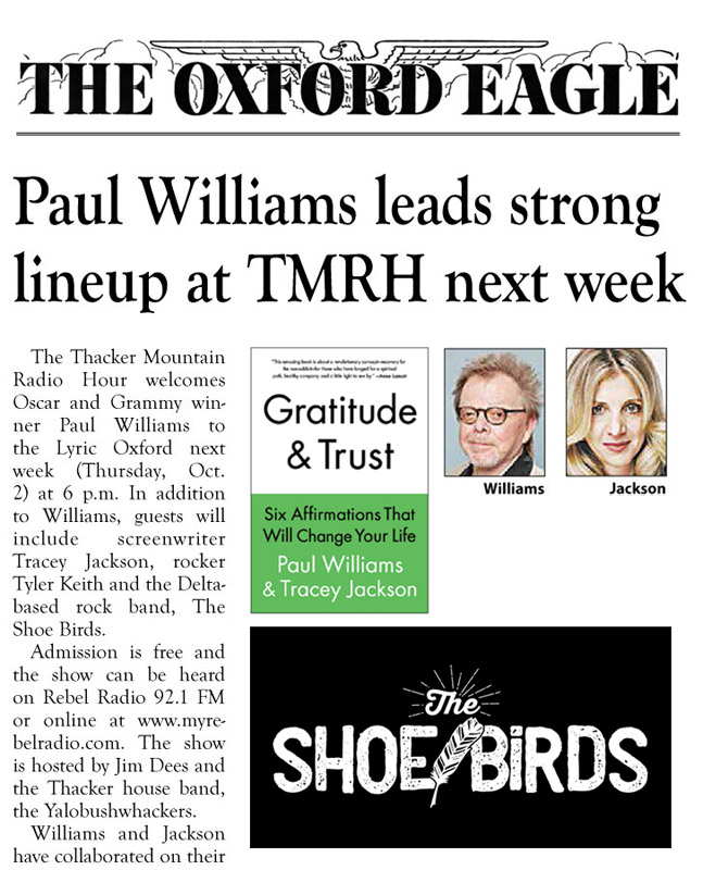 Paul Williams, The Shoes Birds, Thacker Mounatin Radio