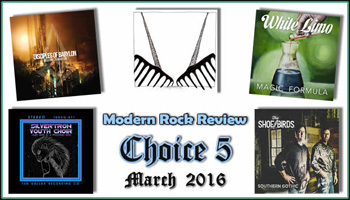 Modern Rock Review names Southern Gothic to its Choice 5 CD's for March